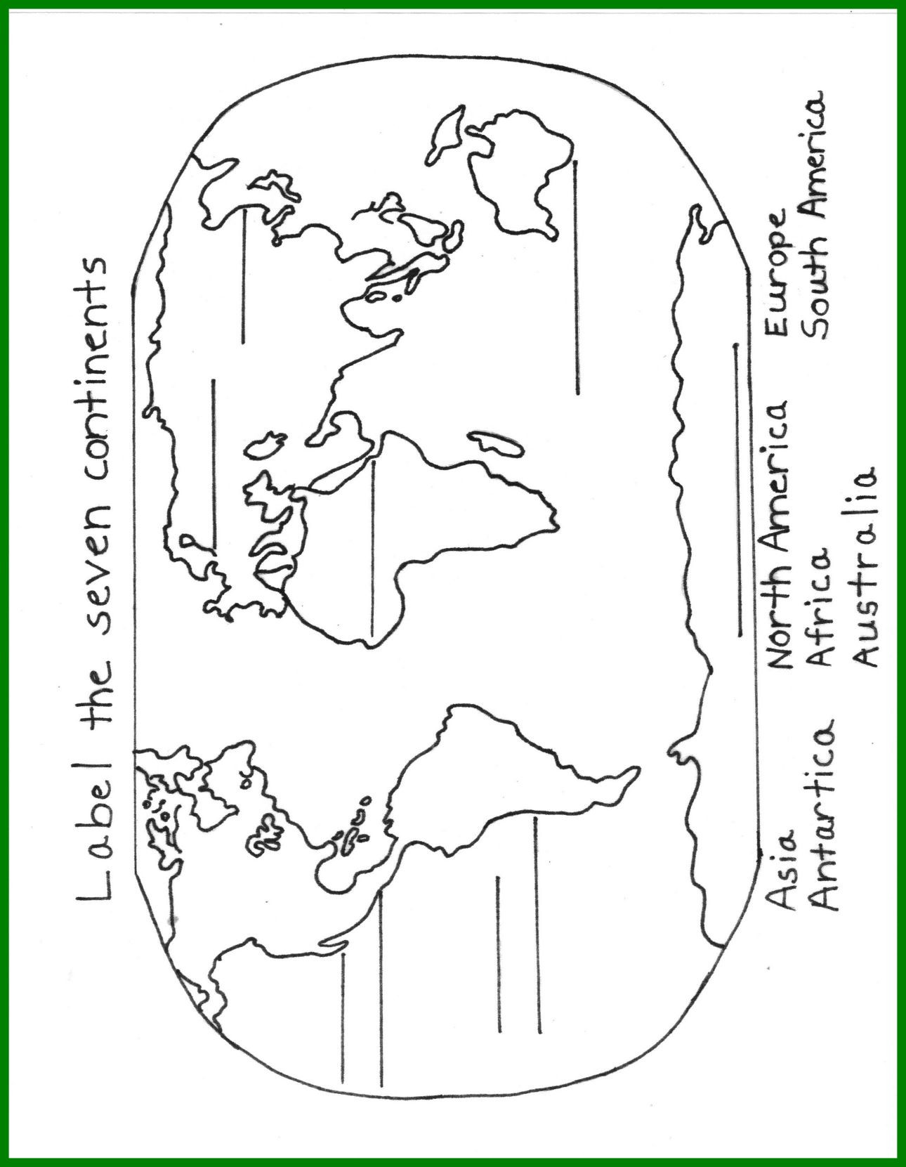 7 Continents Printable Map New Continent Coloring Pages 10 for Continents Page within Frabbi