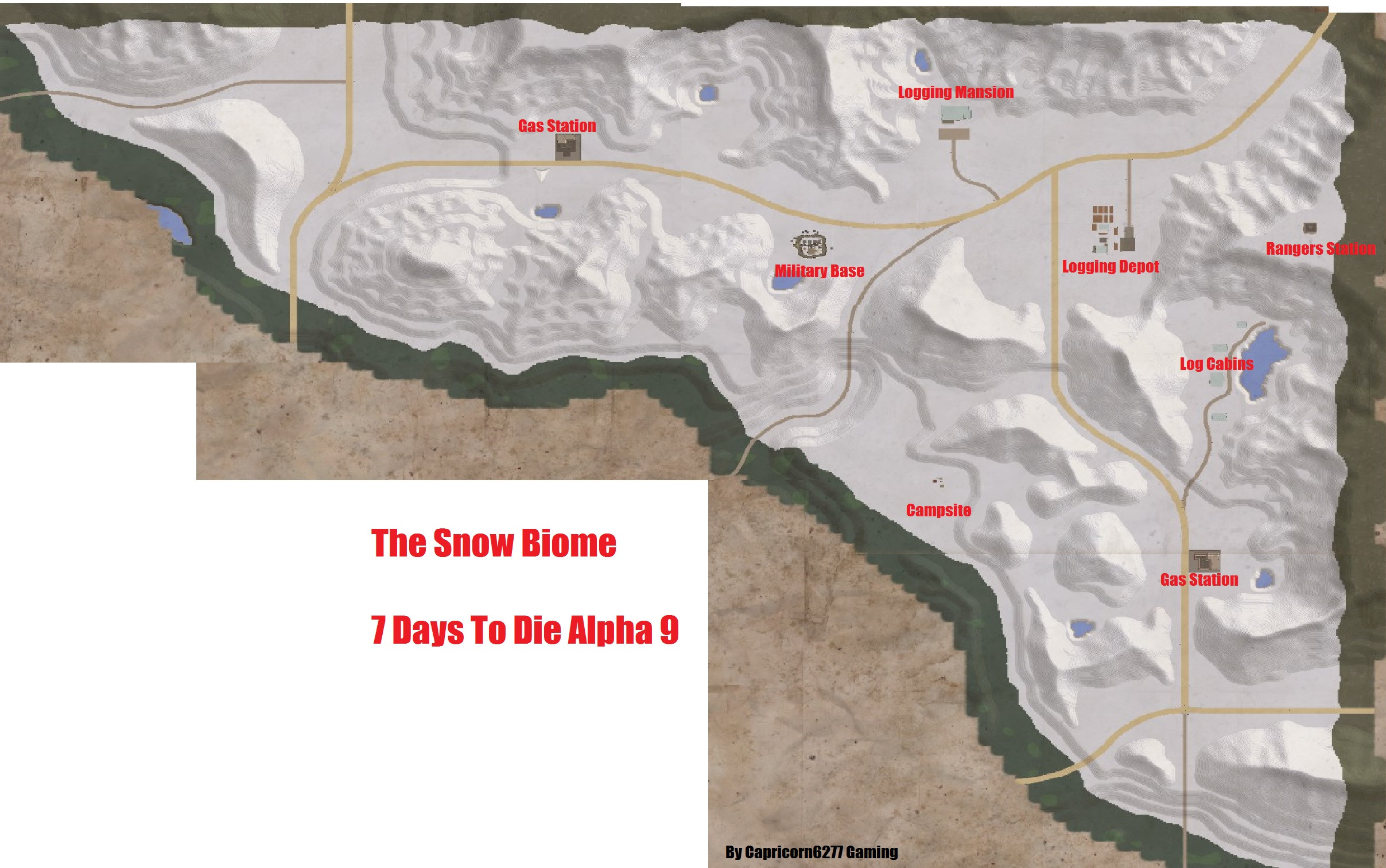 7 Days To Die Printable Map Luxury Steam Munity Guide 7 Days To Die Biomes Poi Locations Alpha