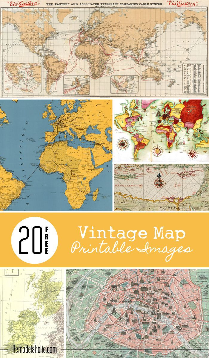 8x10 Printable Map Unique 20 Free Vintage Map Printable