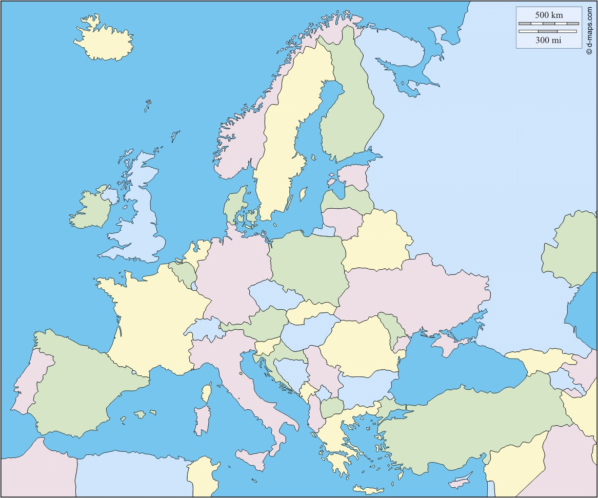 A Printable Map Of Europe Best Of Europe Free Map Free Blank Map Free Outline Map Free Base Map