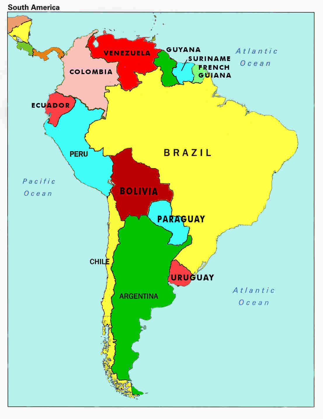 A Printable Map Of South America Elegant Map Of South America Countries And Capitals