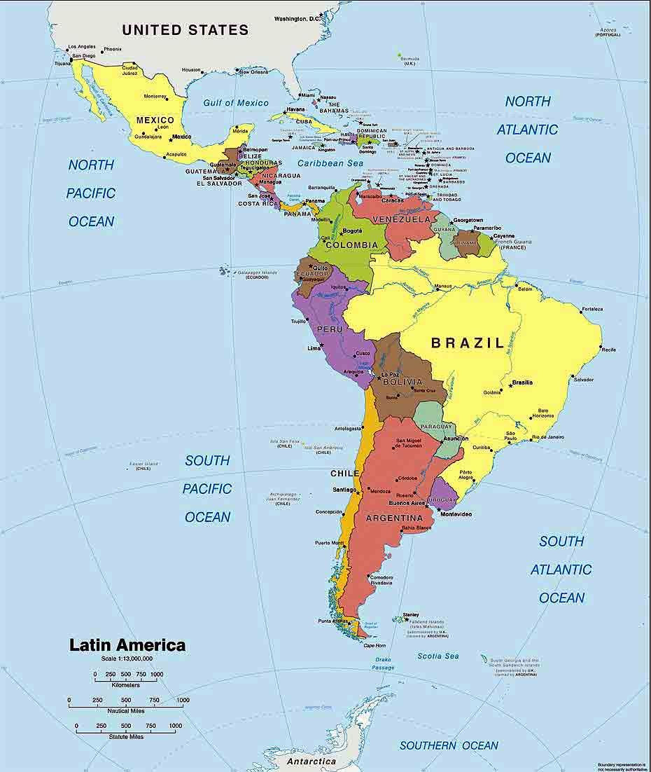 A Printable Map Of south America Elegant Want to Do Business In Latin America – Map