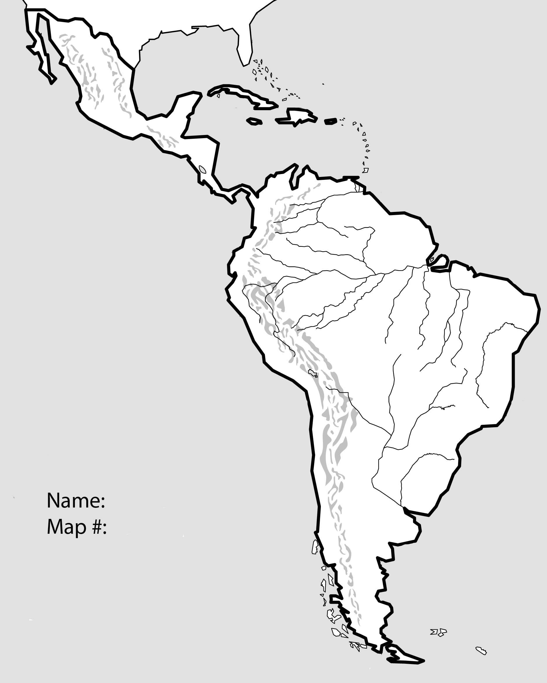 10 Elegant A Printable Map Of south America