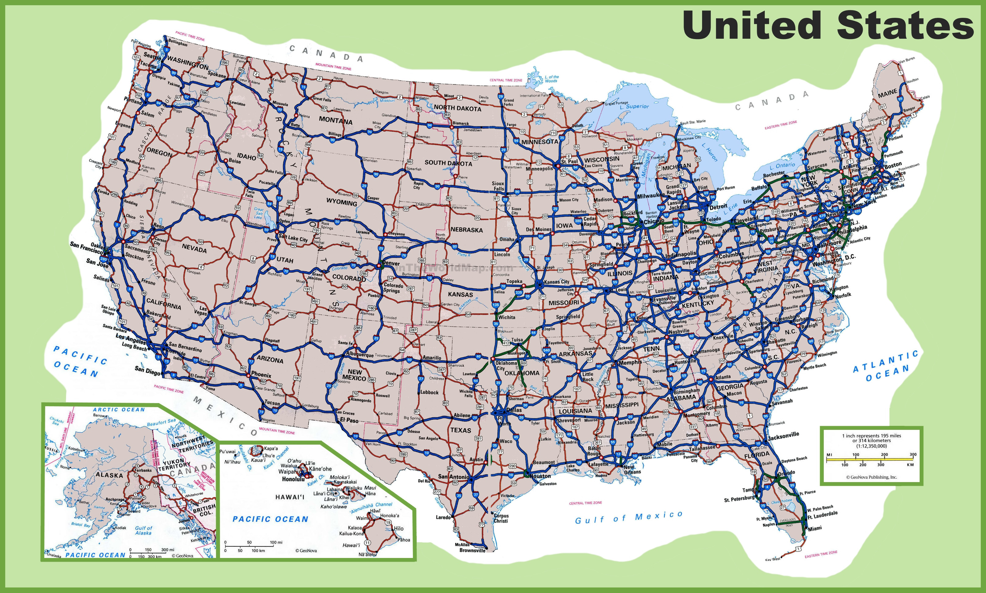 Big Printable Map Of The United States Unique Usa Maps