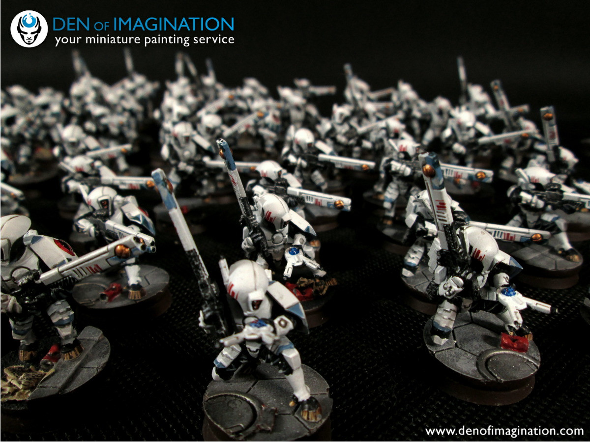 This is crazy D Soon to e level 5 models XV8 BS mander mander Shadowsun mander Farsight 3 Riptides Tau Shas o R alal and R varna