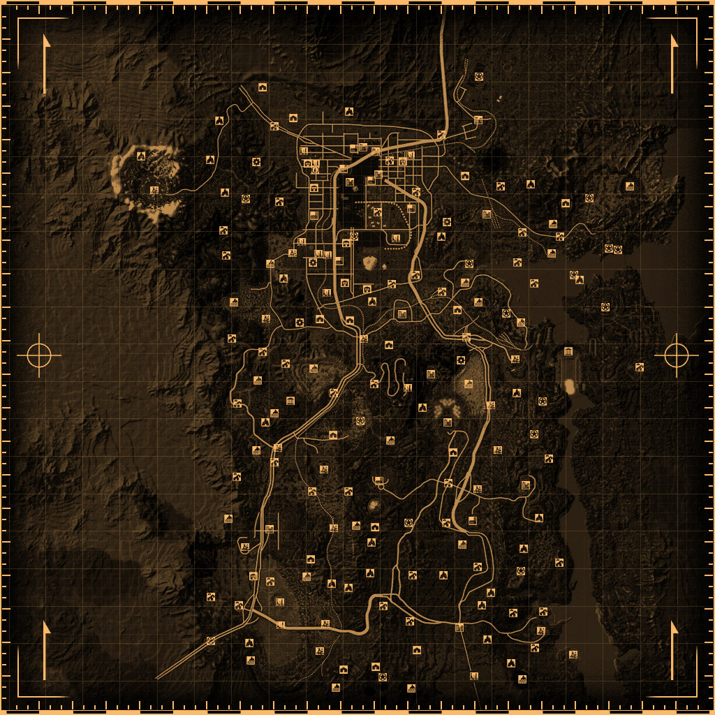 Fallout 3 Printable Map New Fallout New Vegas Locations Fallout Wiki