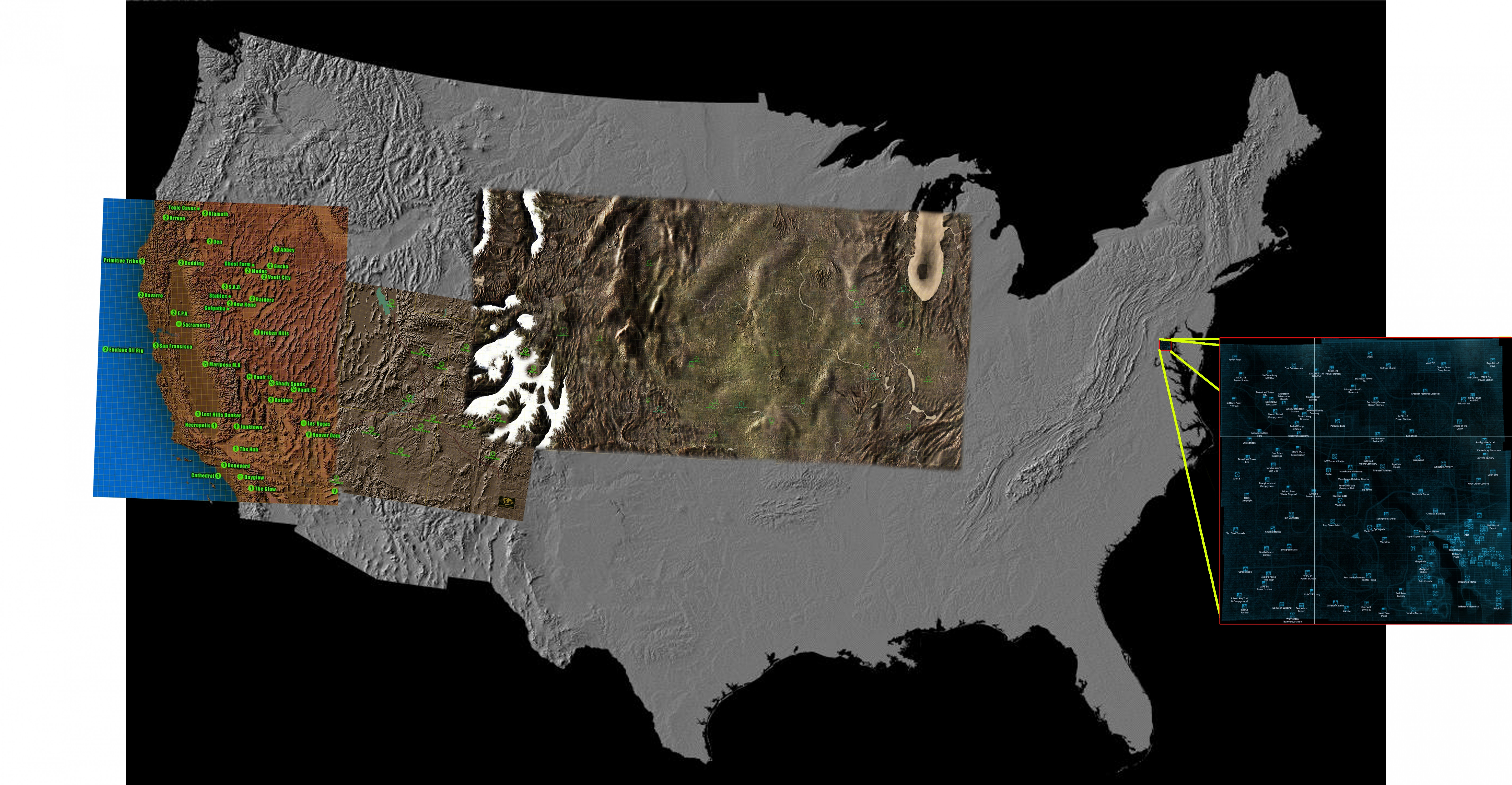 Image of Map Usa States – Image Us Map Fallout Wiki