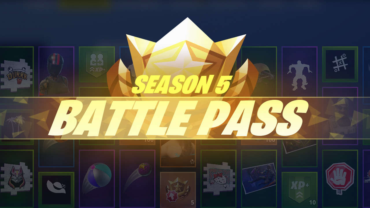 TVGN news Fortnite Season 5 Battle Pass Rewards New Skins Sprays Emotes And More