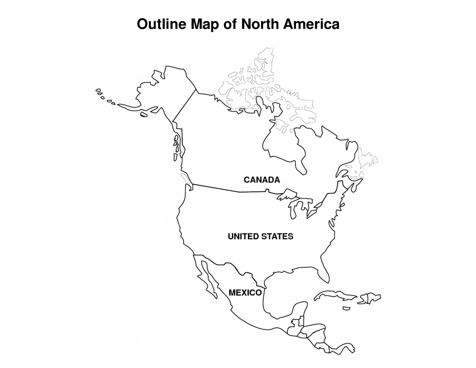 10 New Free Printable Map Of the United States Blank