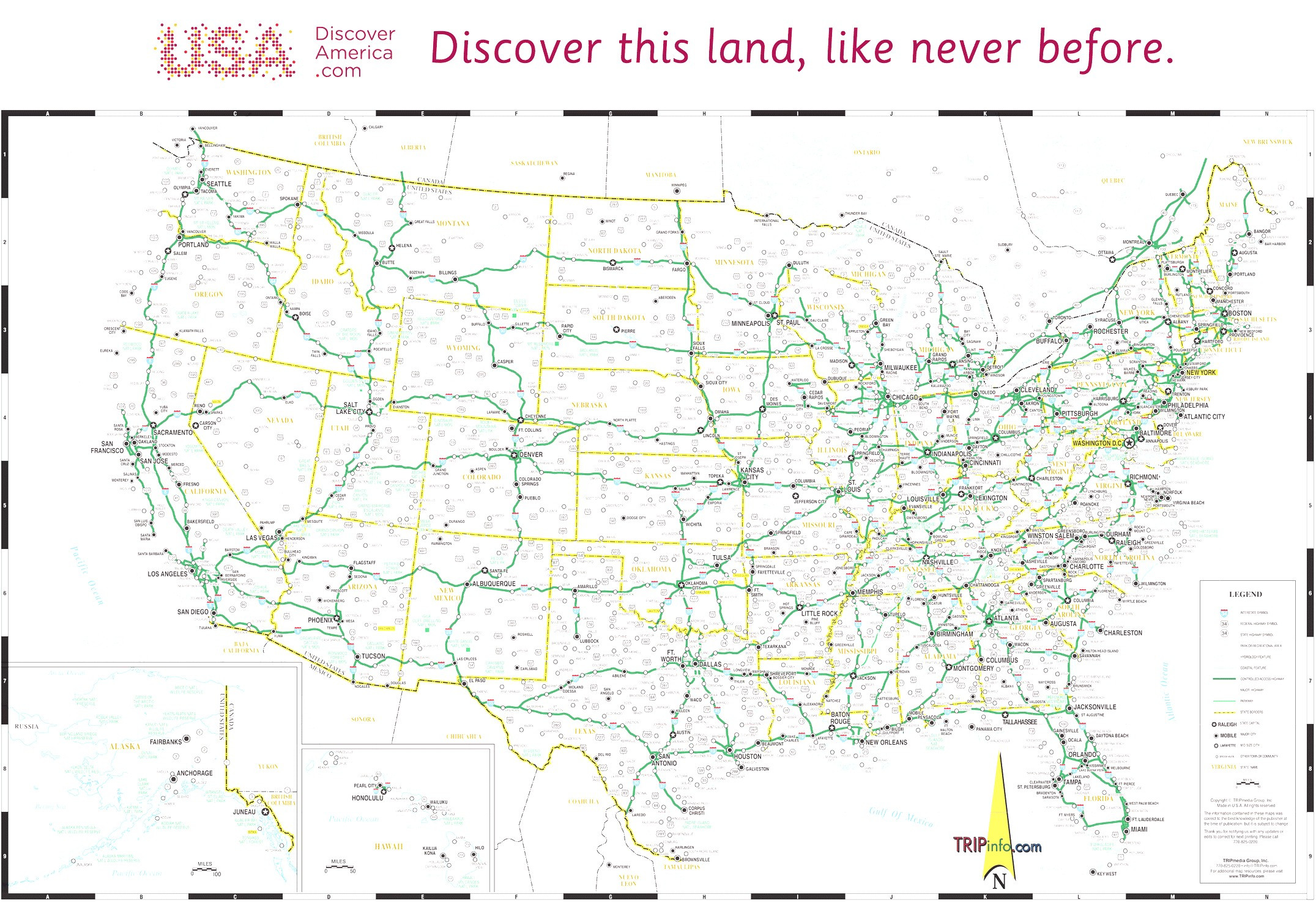 10 Beautiful Free Printable Road Map Of the United States