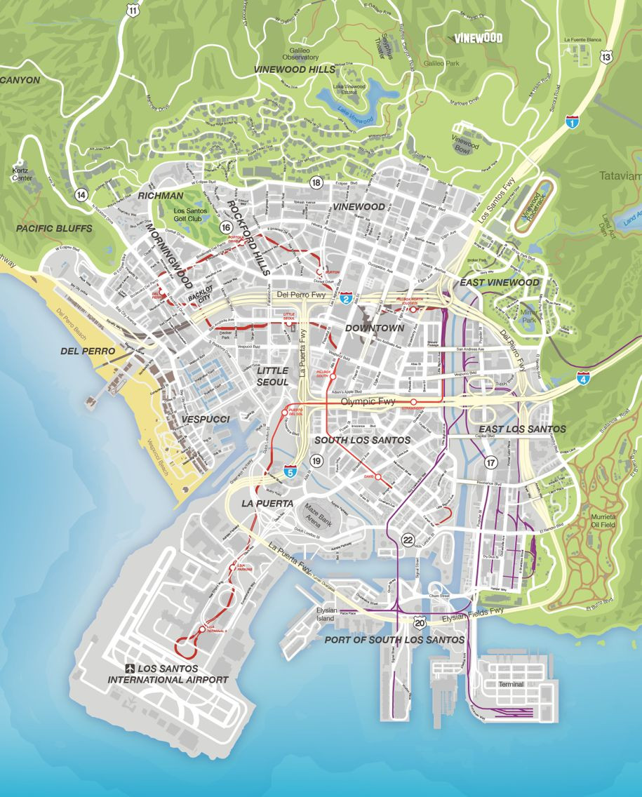 Gta V Printable Map Best Of Gta V Los Antos Video Games Pinterest