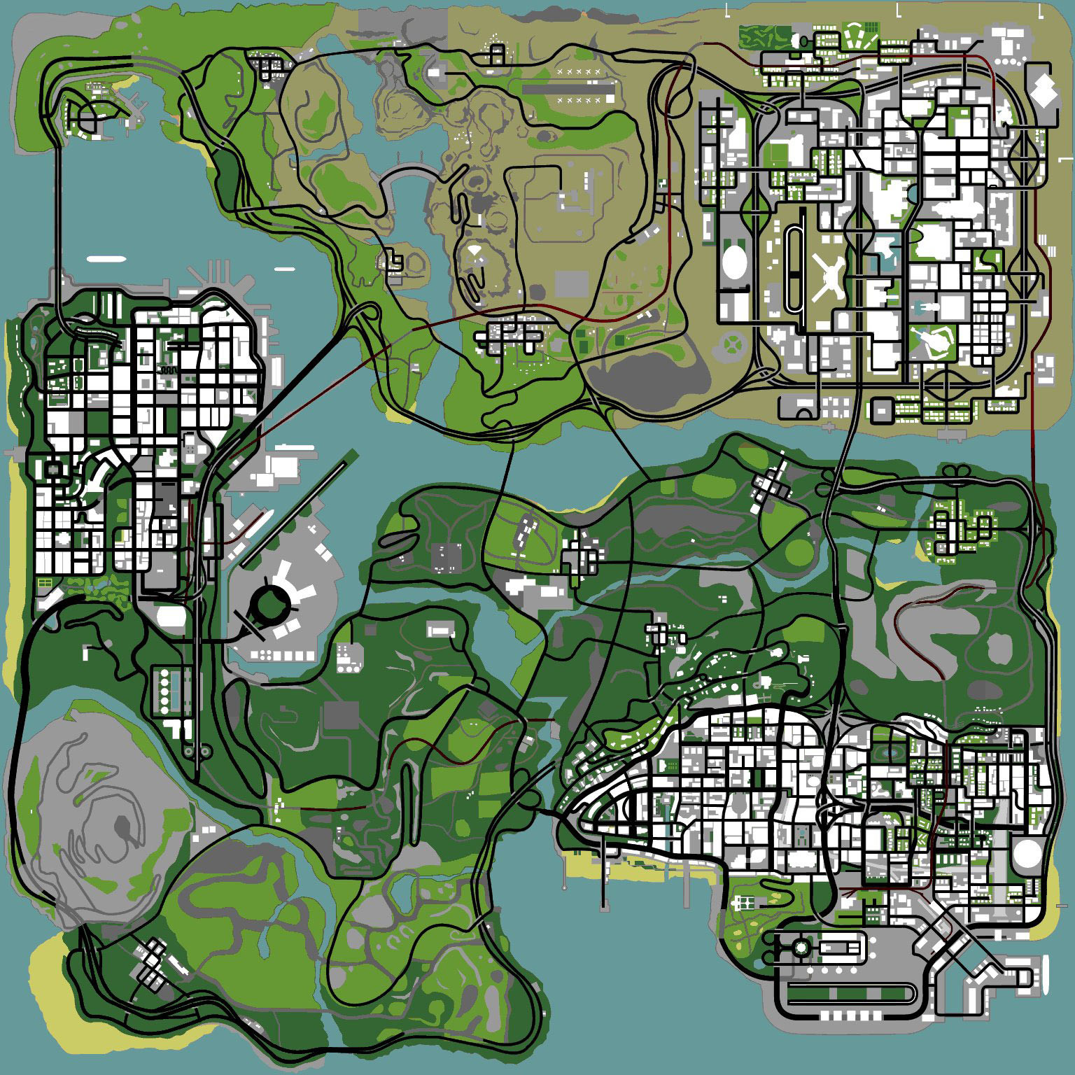 Gta V Printable Map Inspirational The Gta Place San Andreas Maps