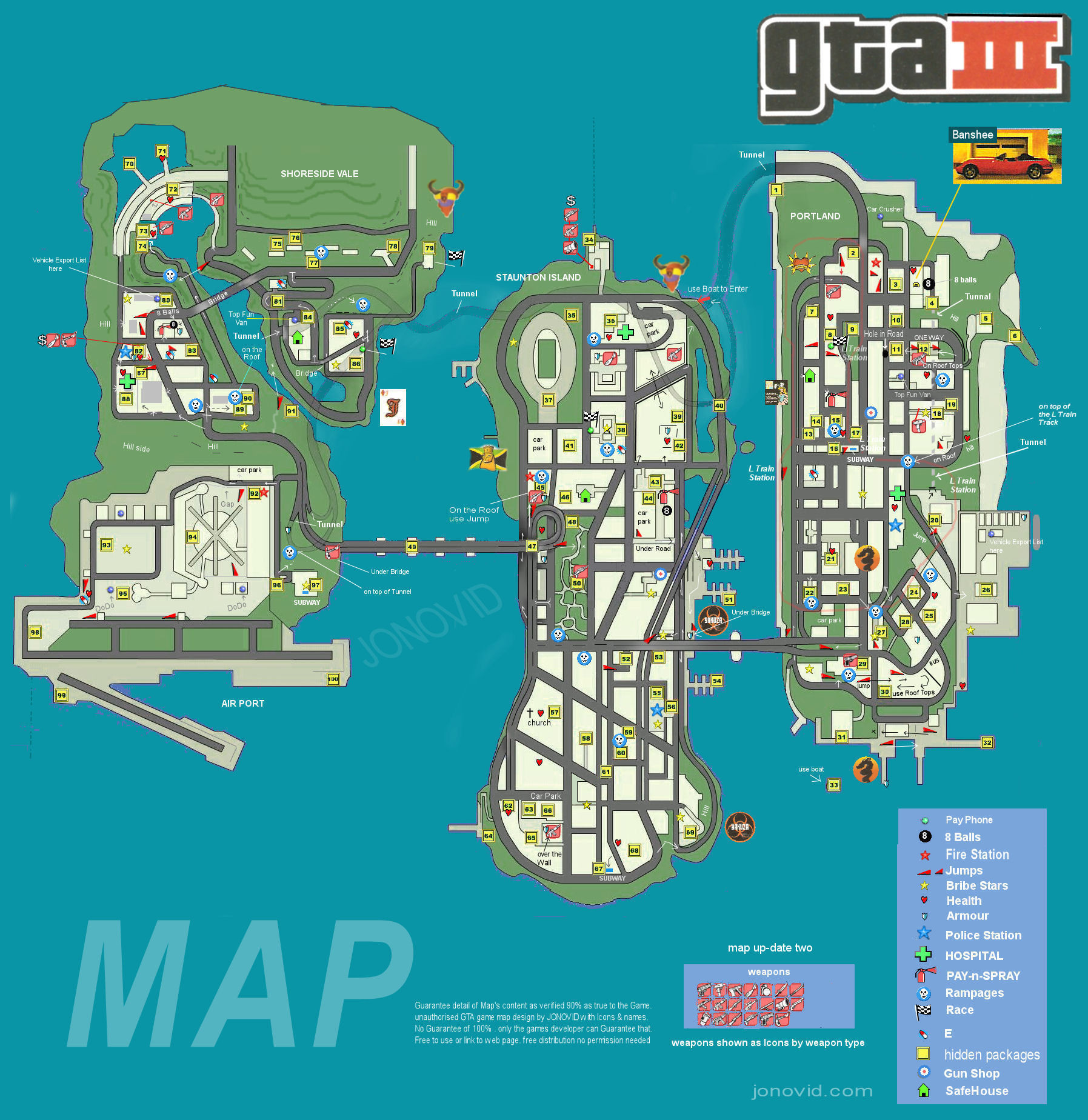 Gta V Printable Map Lovely Steam Munity Guide Gta Iii Map