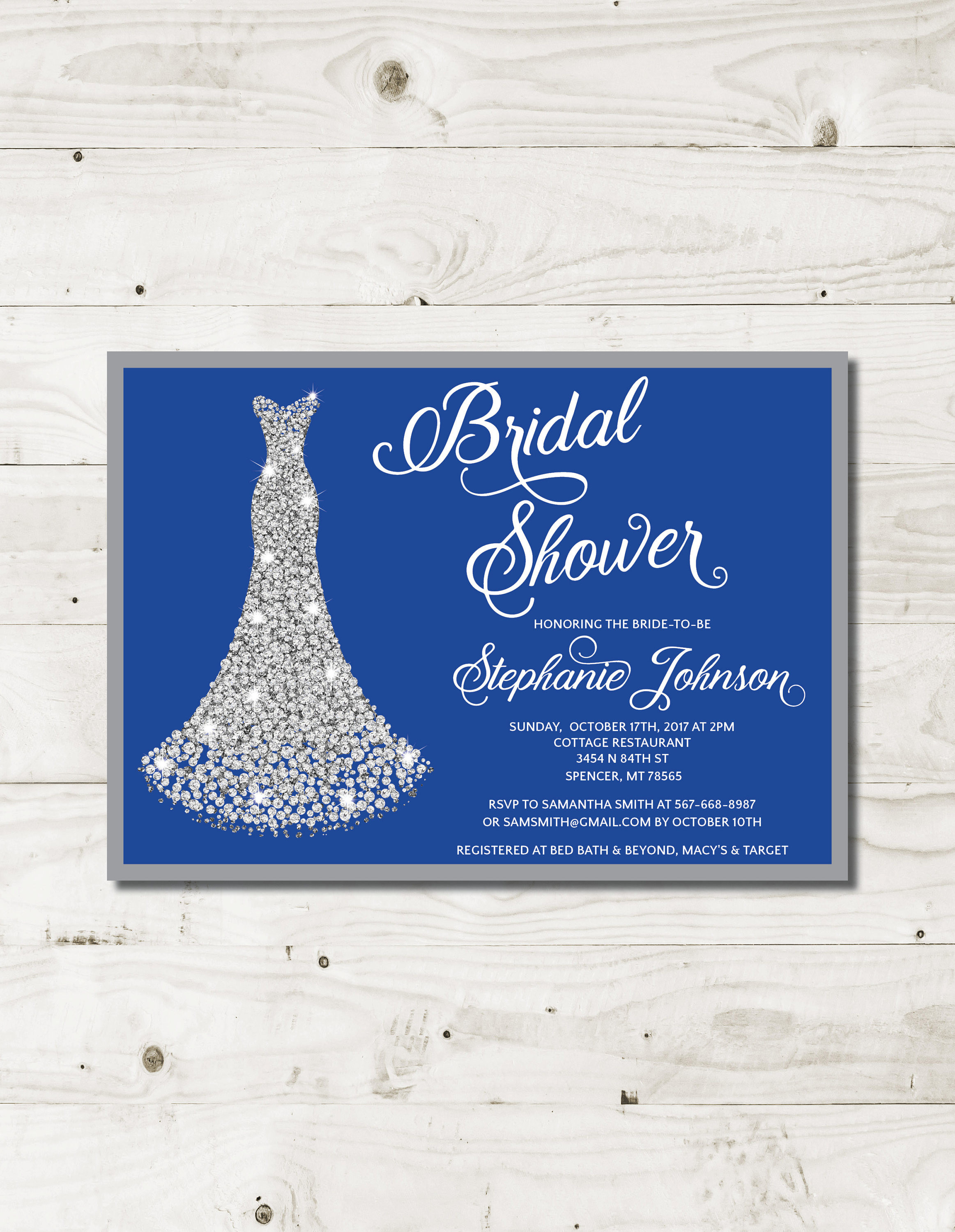 Macys Womens Wedding Bands Best Royal Blue Bridal Shower Invitation Royal Blue Wedding s