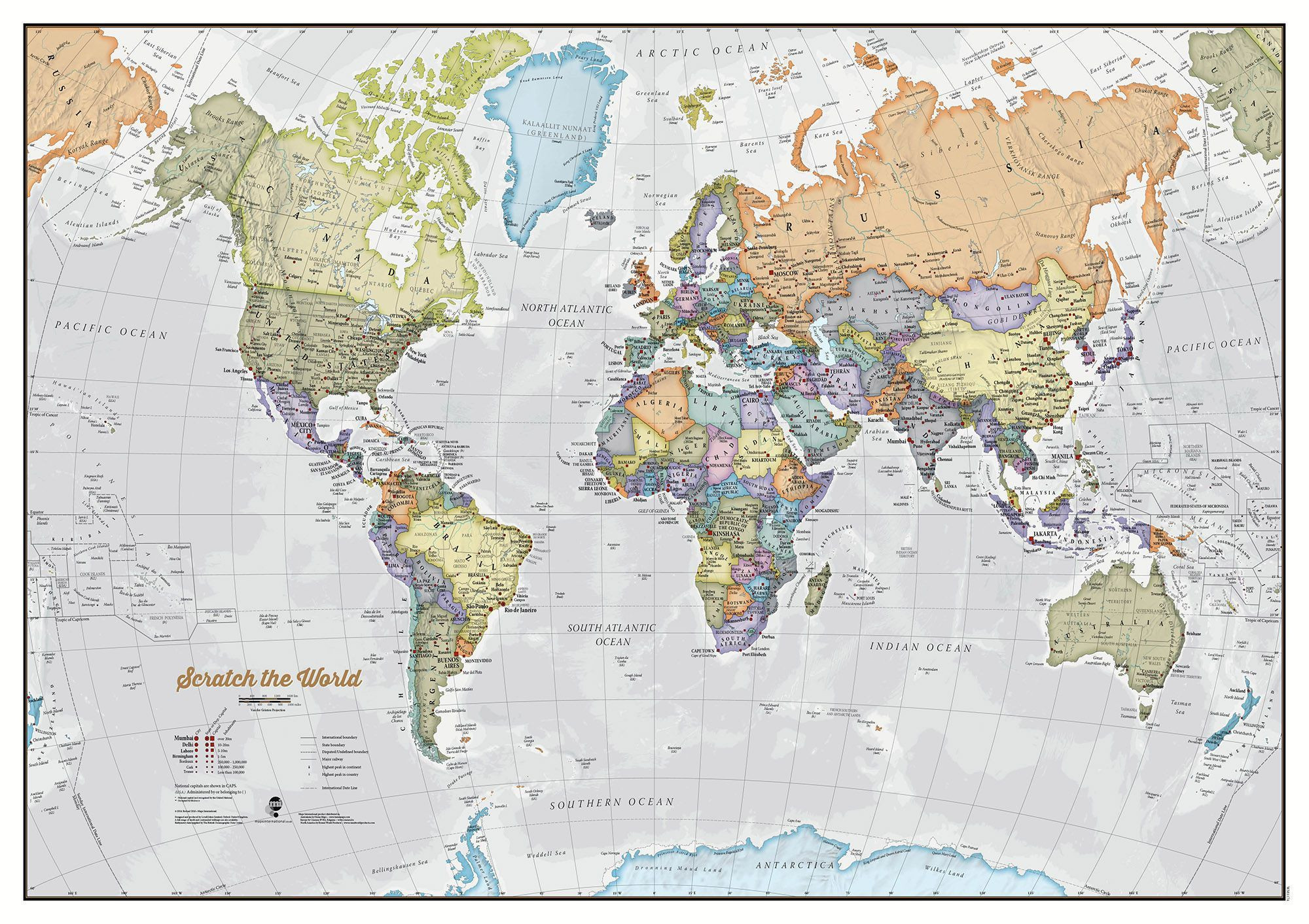 world map print bacons standard map of the world Printable Pages