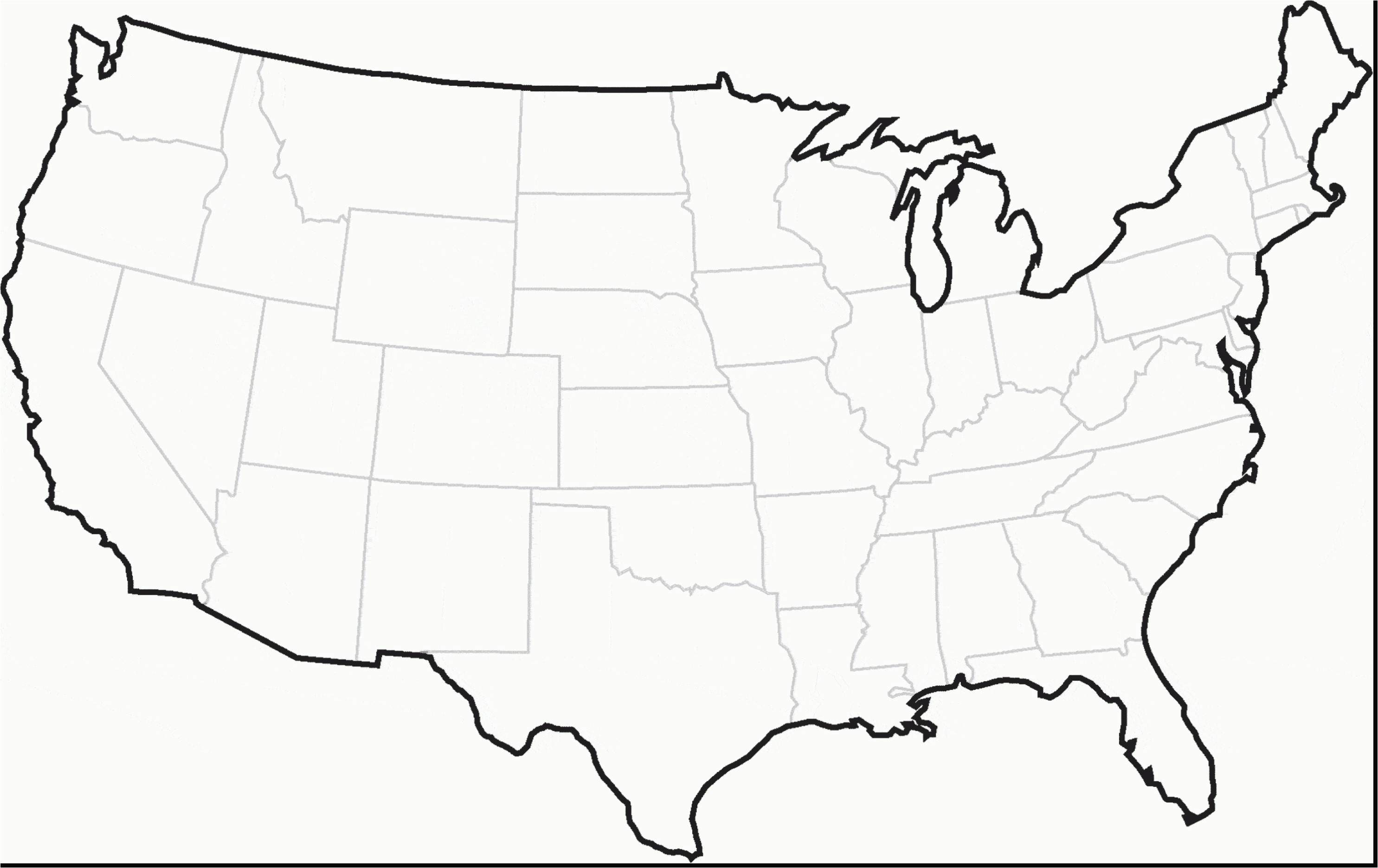 Outline Map the United States America New Printable United States Maps Outline and Capitals