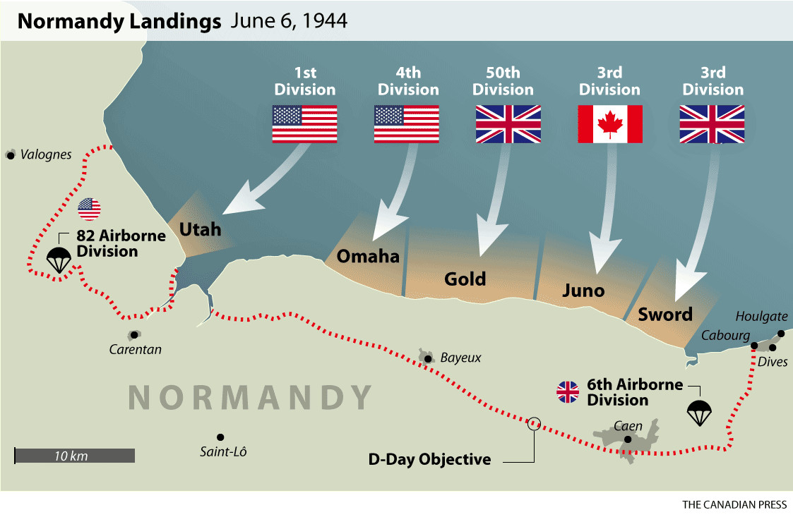 Printable D-day Map New D Day normandy Landings Map Wwii Europe 1944 Pinterest