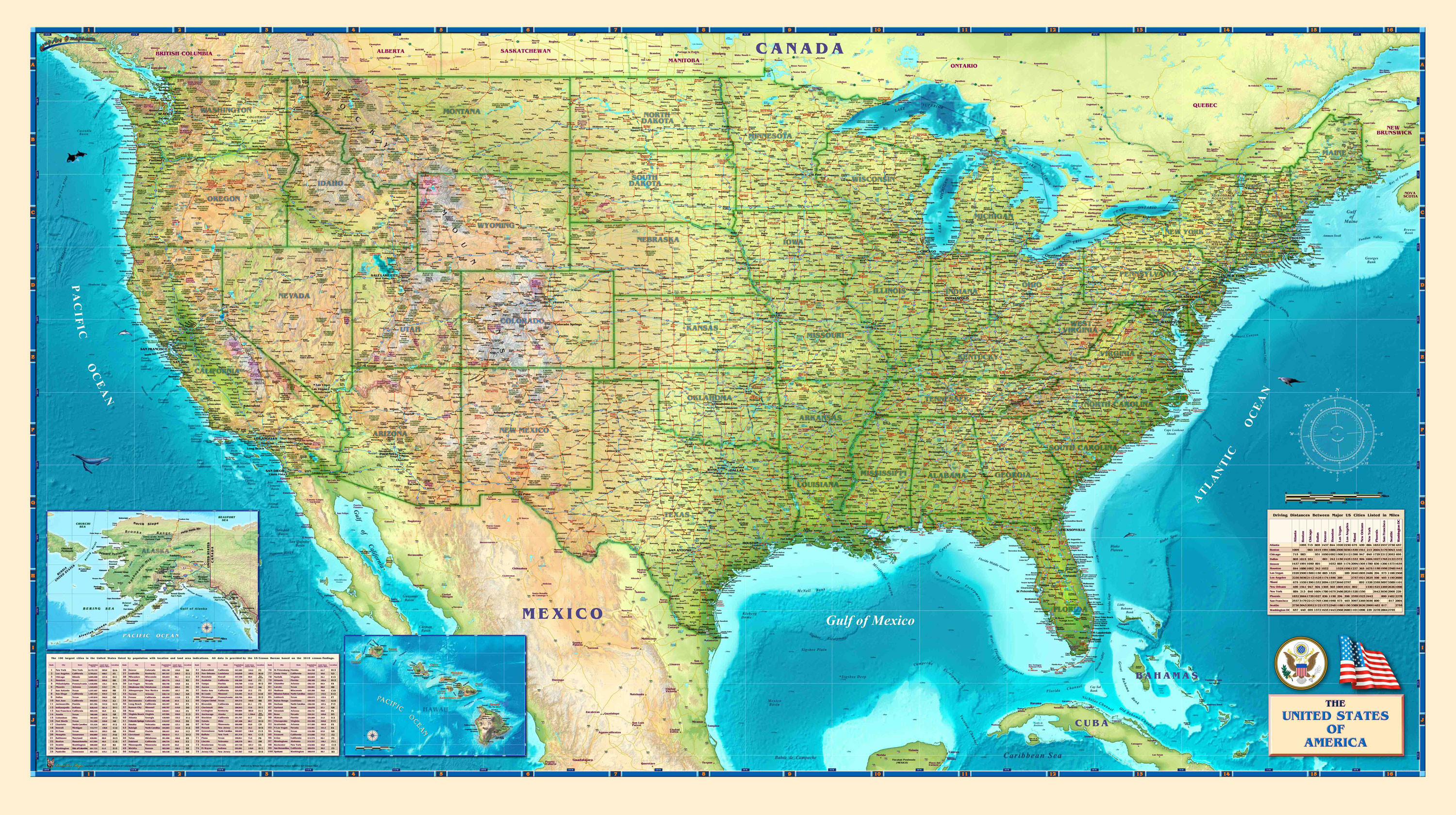 Printable Detailed Map Of The United States Inspirational Geographical Maps United States Reference Usa Map Cities States