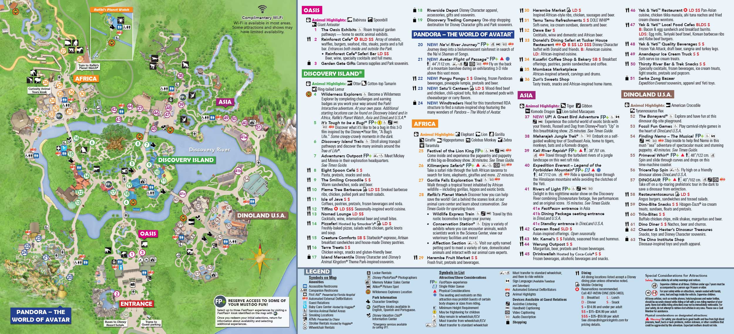 Disney s Animal Kingdom map Theme Park map