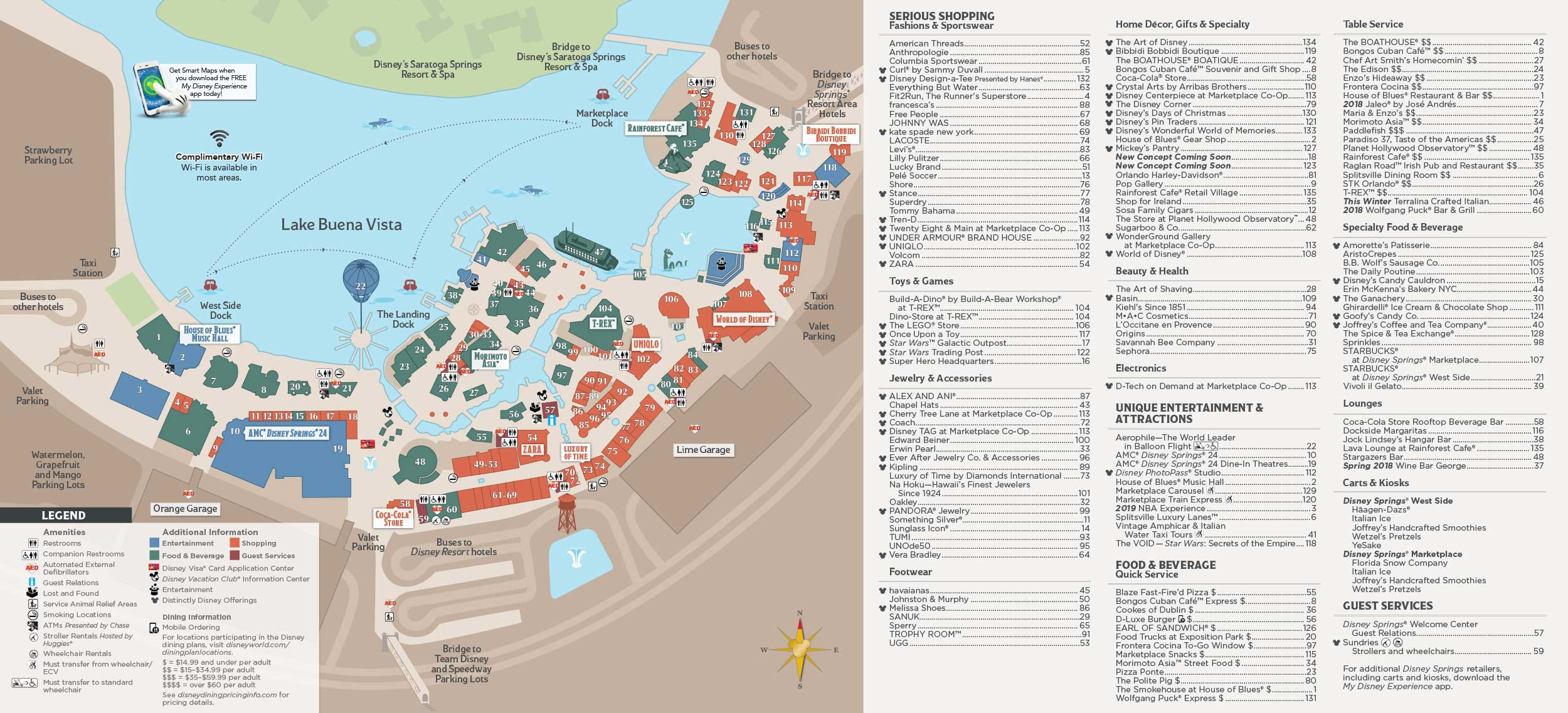 Printable Disney Map 2018 Unique Disney Springs Map Walt Disney World