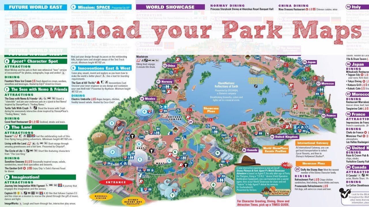 Printable Disneyland Map 2018 Unique Printable Disney Maps In World
