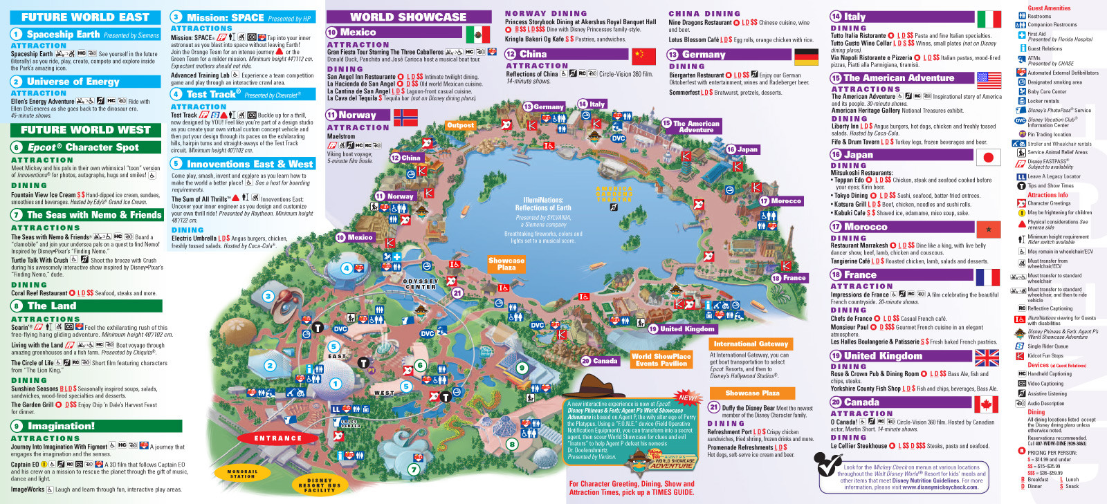 Printable Epcot Map 2018 Lovely Park Maps 2013 4 Of 8