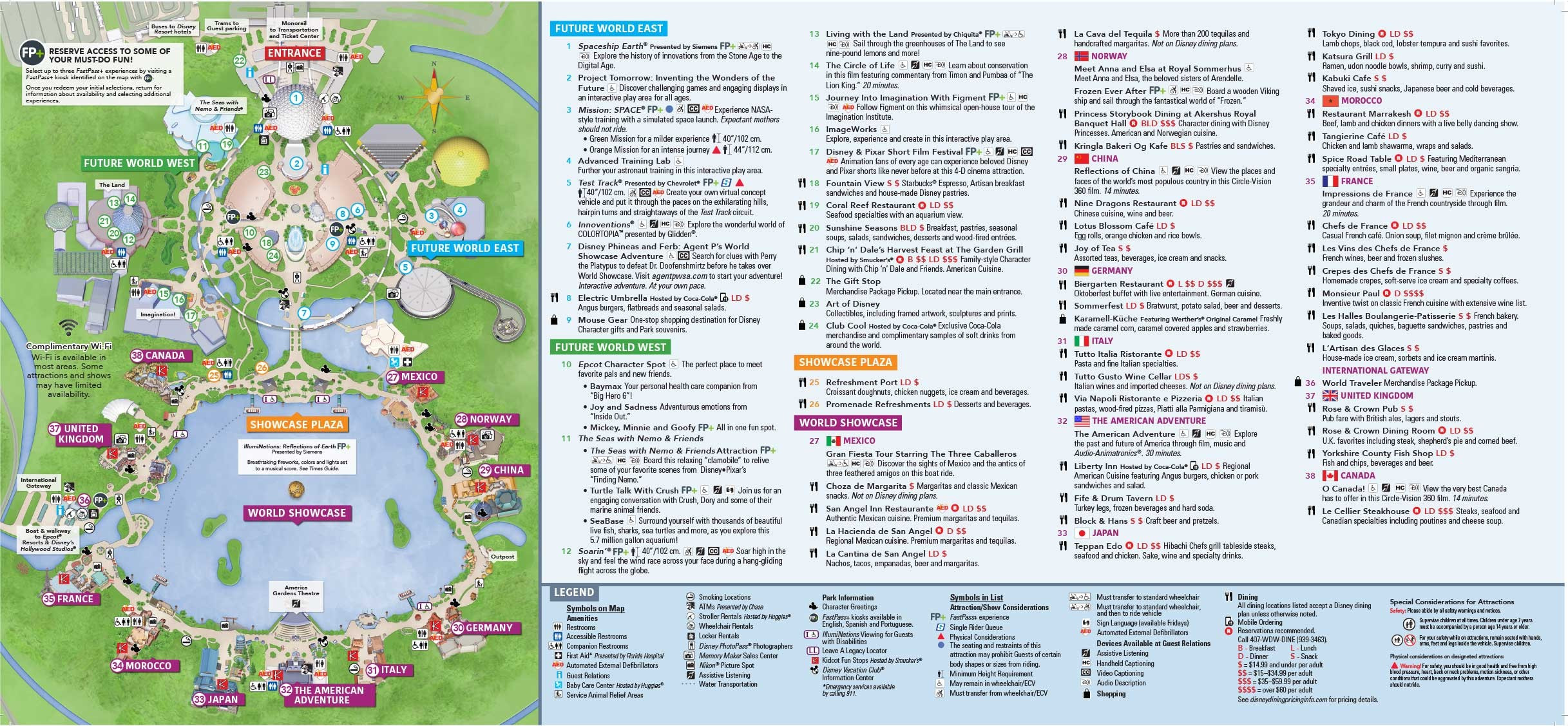 Printable Epcot Map 2018 Luxury Epcot Map World Showcase Awesomebryner