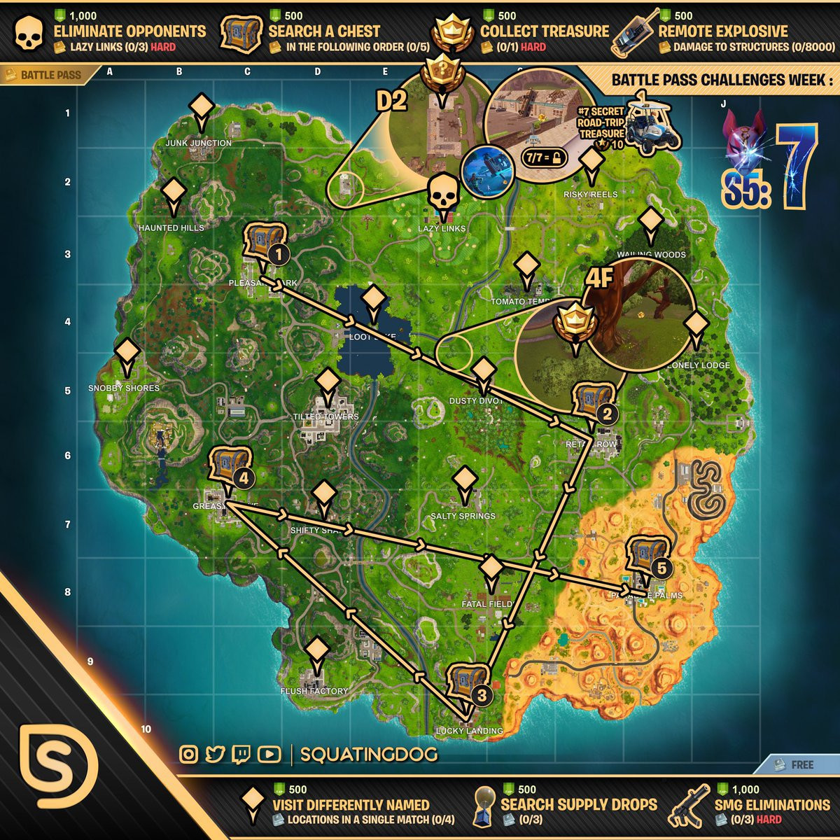 Printable Fortnite Map Season 5 Best Of Interior Week Treasure Map 4k