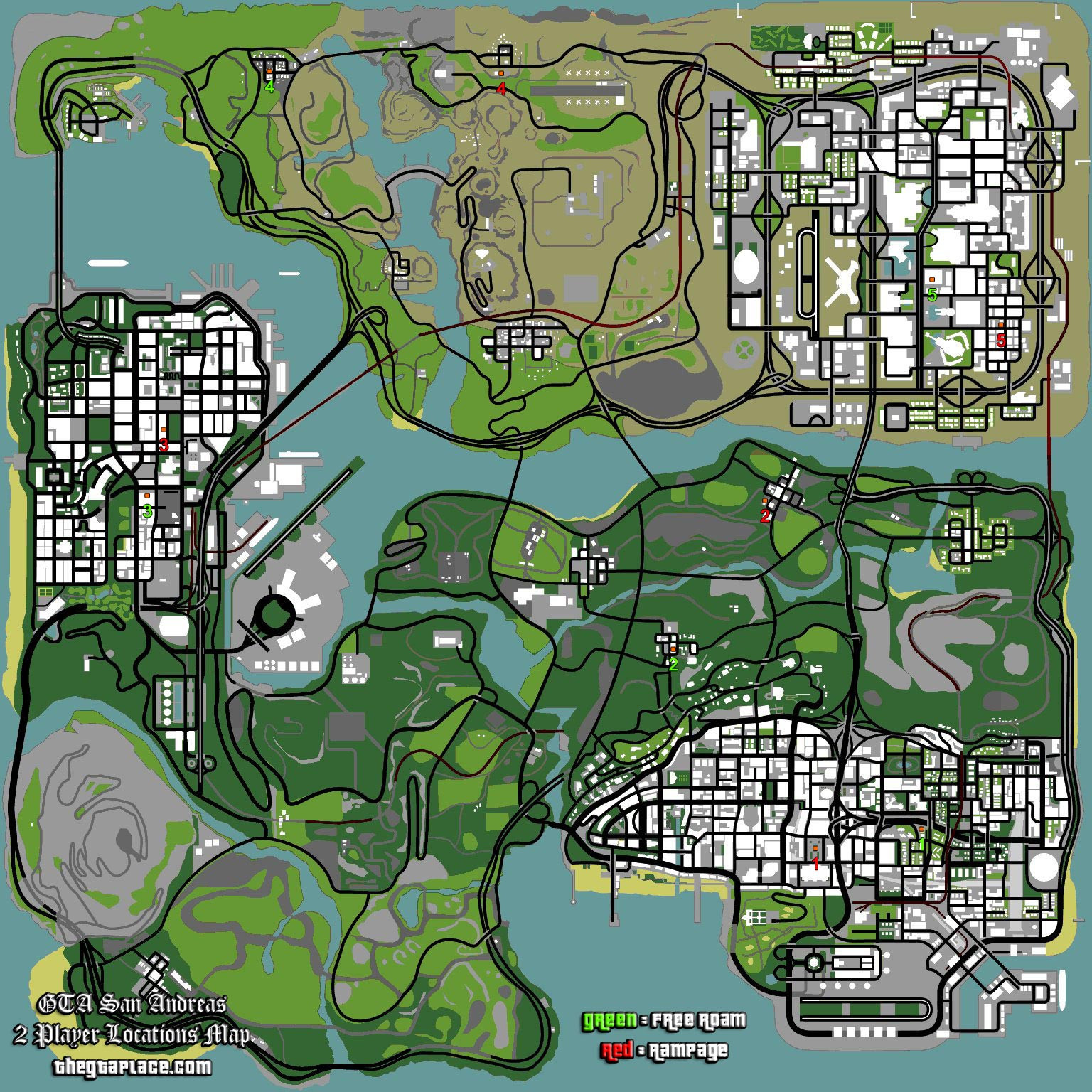 2 Player Locations