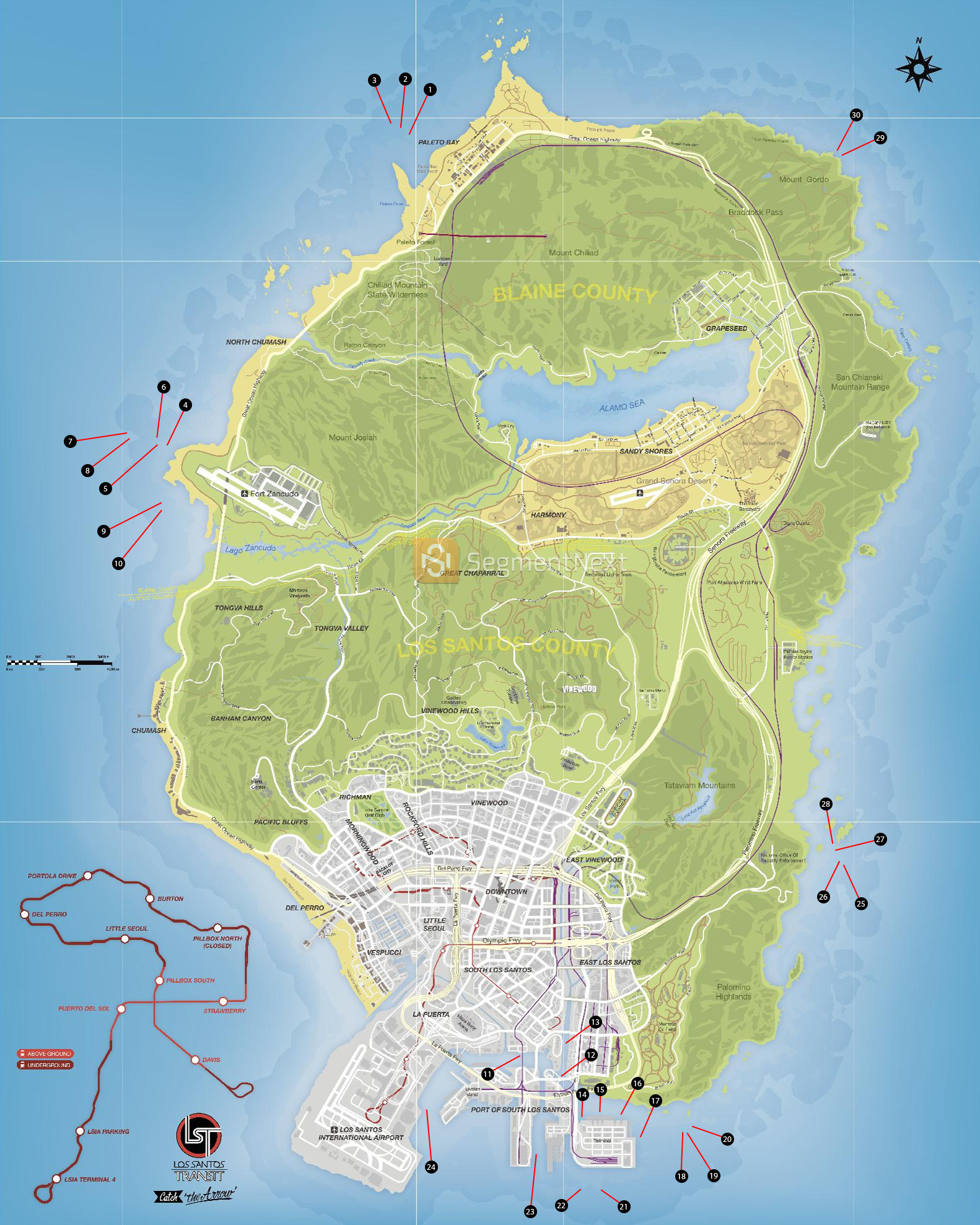 Printable Gta 5 Map Luxury Steam Munity Guide Maps And Collectibles Locations