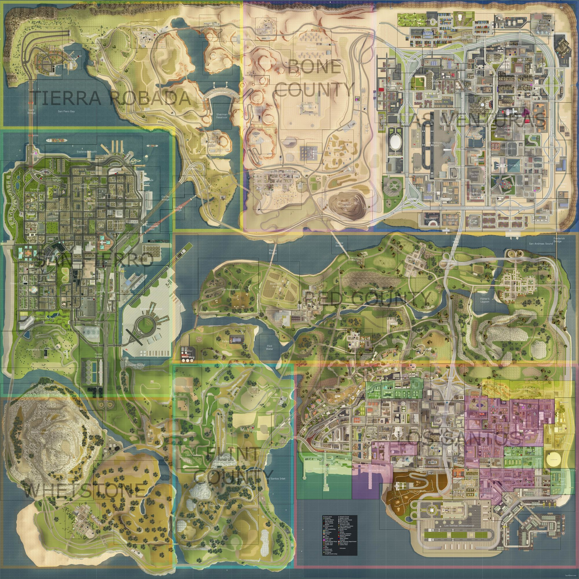Printable Gta 5 Map Unique State Of San Andreas Gta Wiki