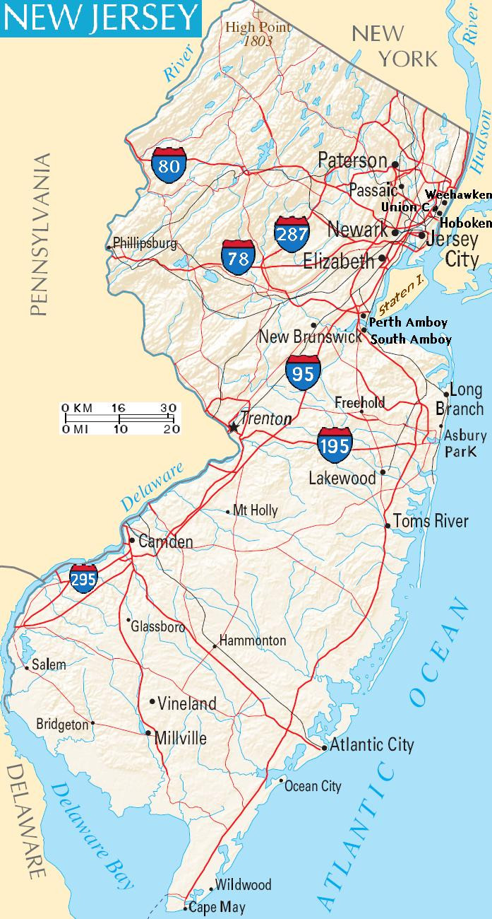 Printable Jersey Map Awesome Elizabeth New Jersey