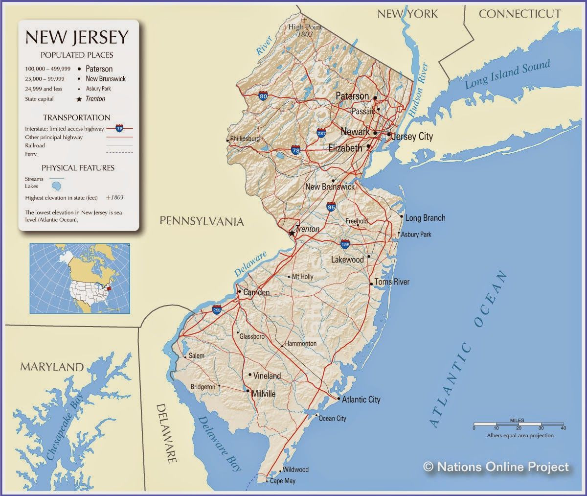 Printable Jersey Map Elegant New Jersey State Of New Jersey U S Geography