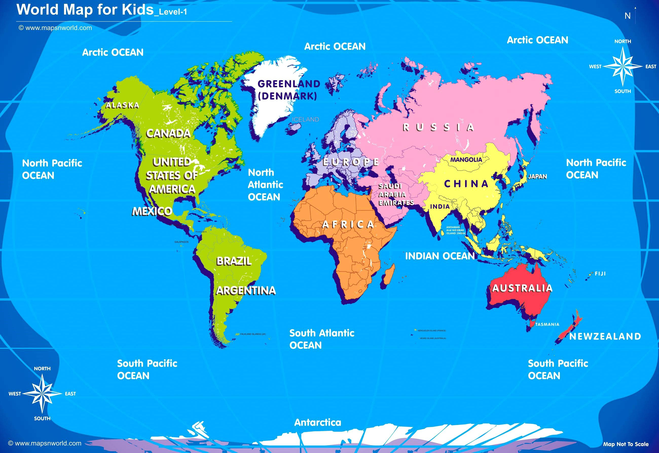 Printable Kid-friendly Map Of the United States New Kid Friendly World Map Simple Decoration World Map for Kids World Maps