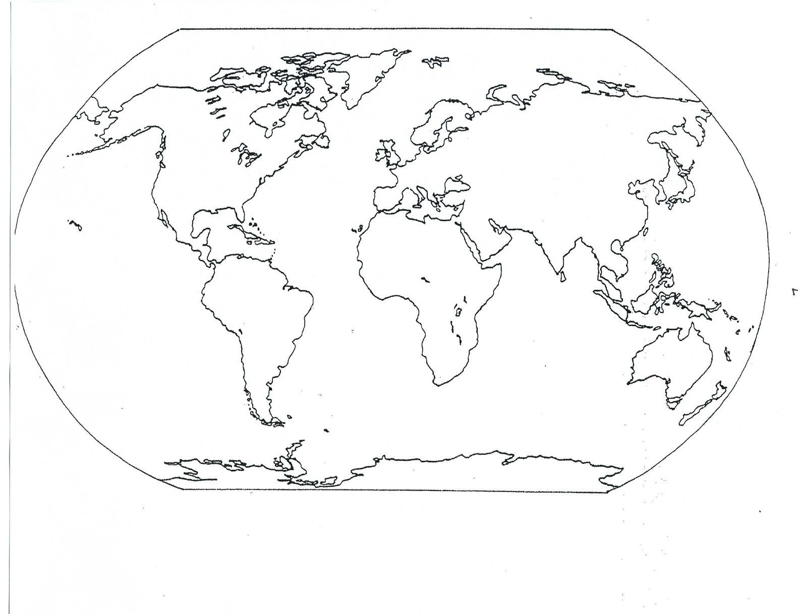 Printable Map 7 Continents Fresh Blank World Map 2nd Grade Pinterest
