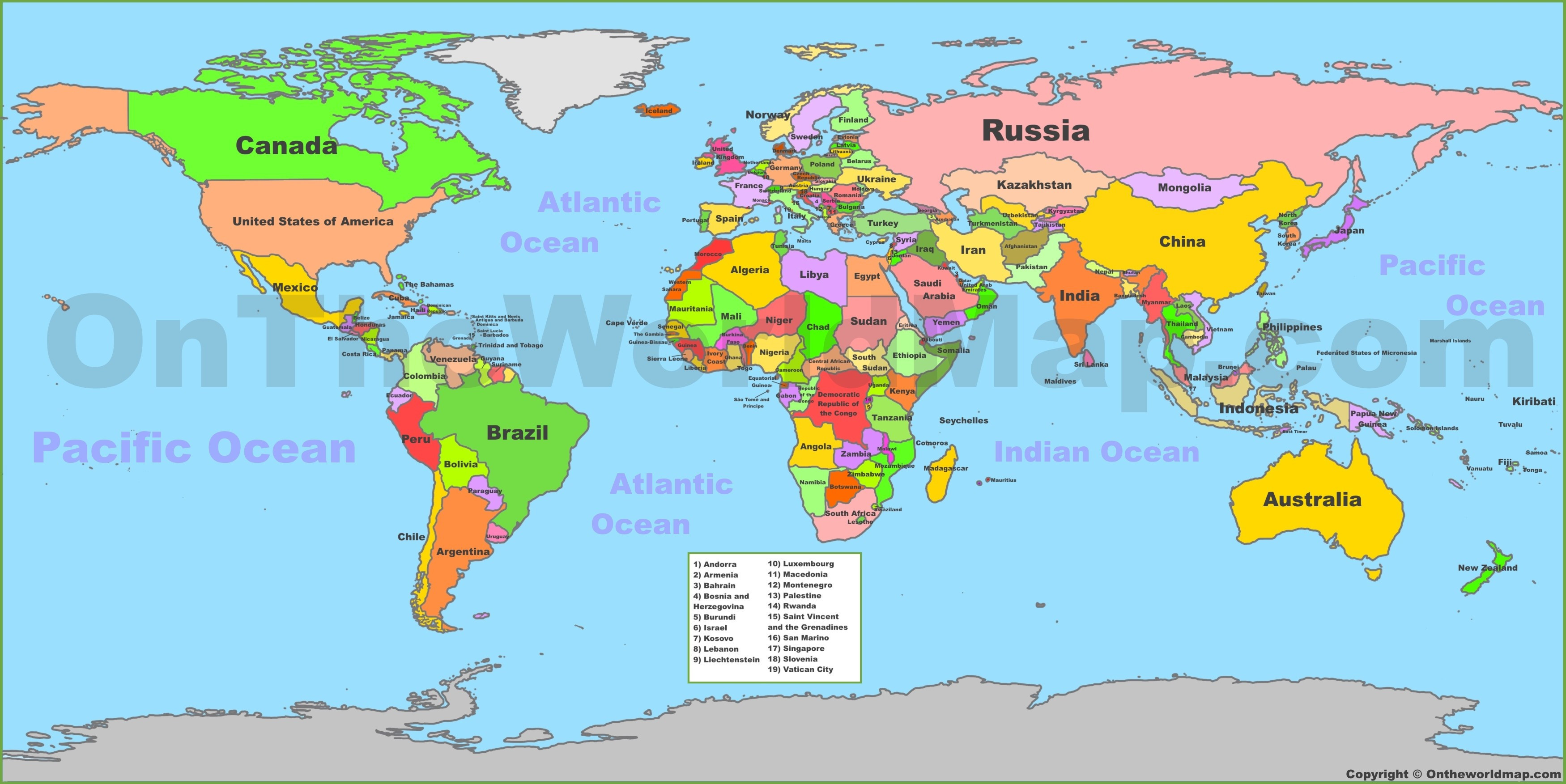 Printable Map 7 Continents New Political World Map Continents Printable Maps World Map With