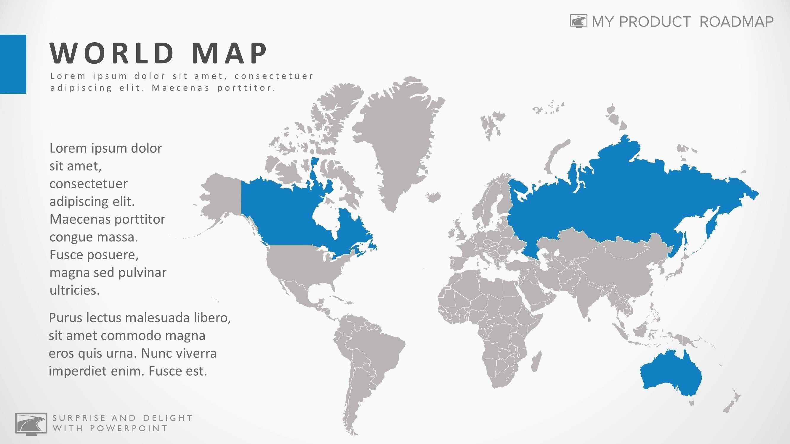 World Map Awesome ¢Ë†Å¡ Ppt Roadmap Template Free Awesome Ppt 0d Nanostructures Unique