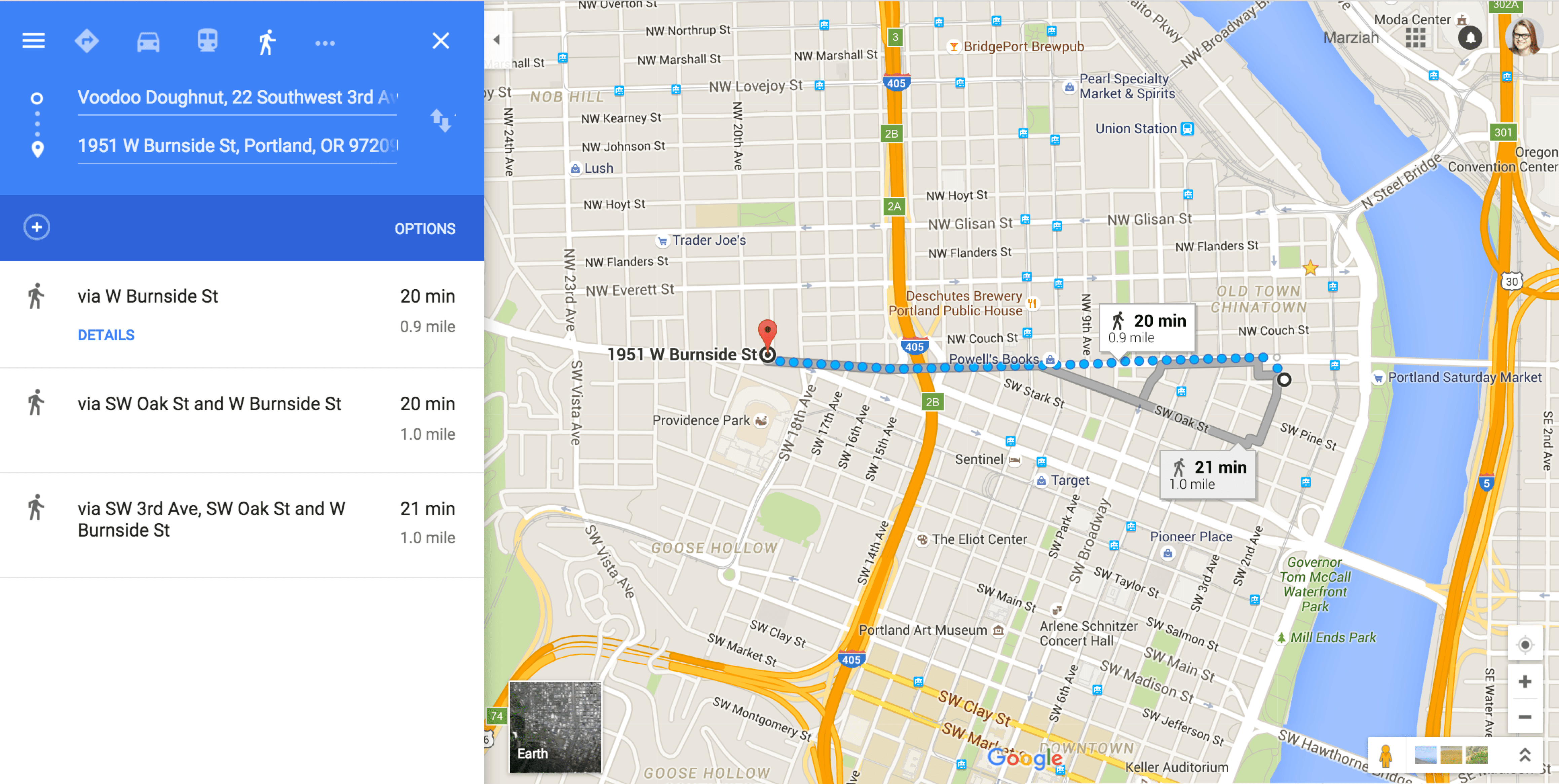 Map My Walk Get Walking Directions With Google Maps