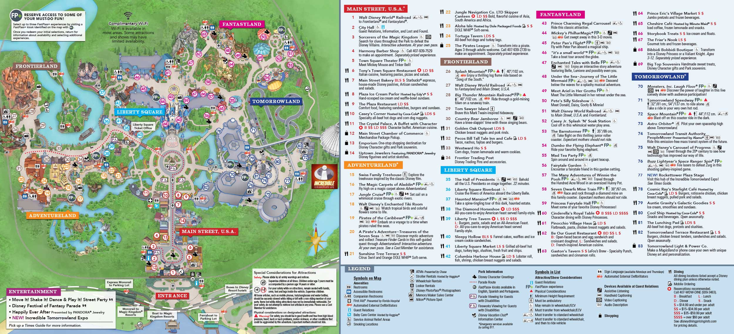 Magic Kingdom Park Map Walt Disney World