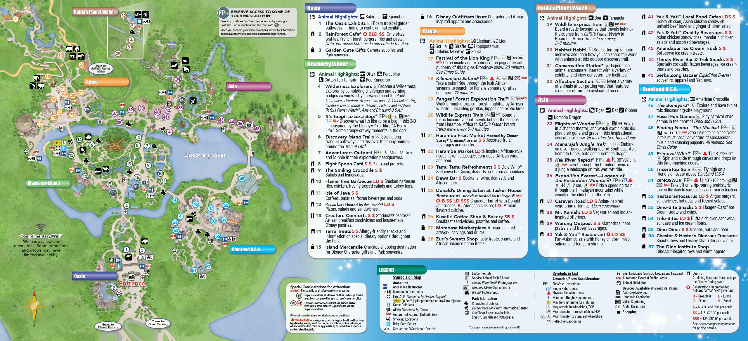 Printable Map Animal Kingdom Elegant Magic Kingdom Disney World Map Pdf New Road With Best Maps
