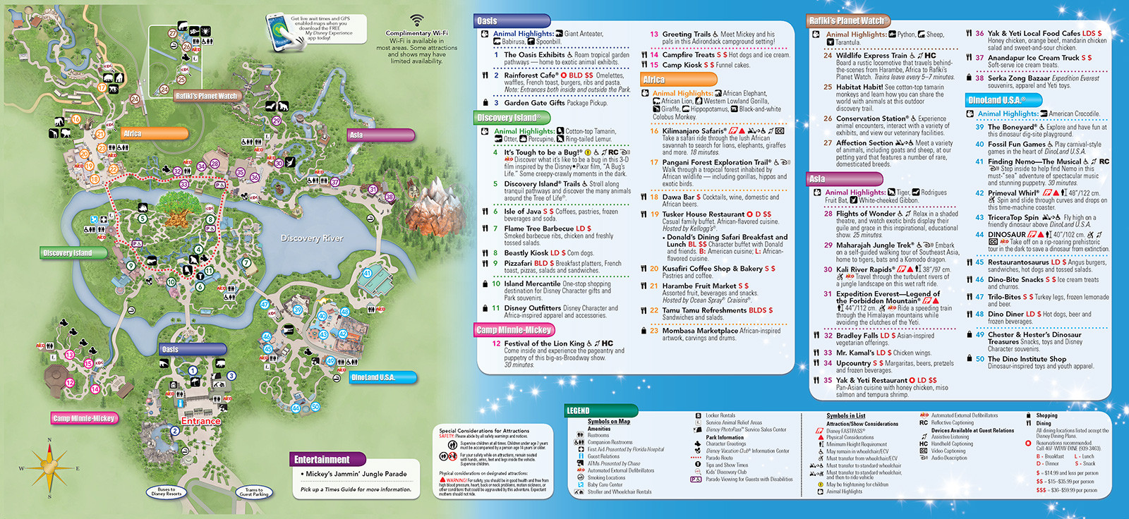 Printable Map Animal Kingdom Unique New 2013 Park Maps And Times Guides 4 Of 20