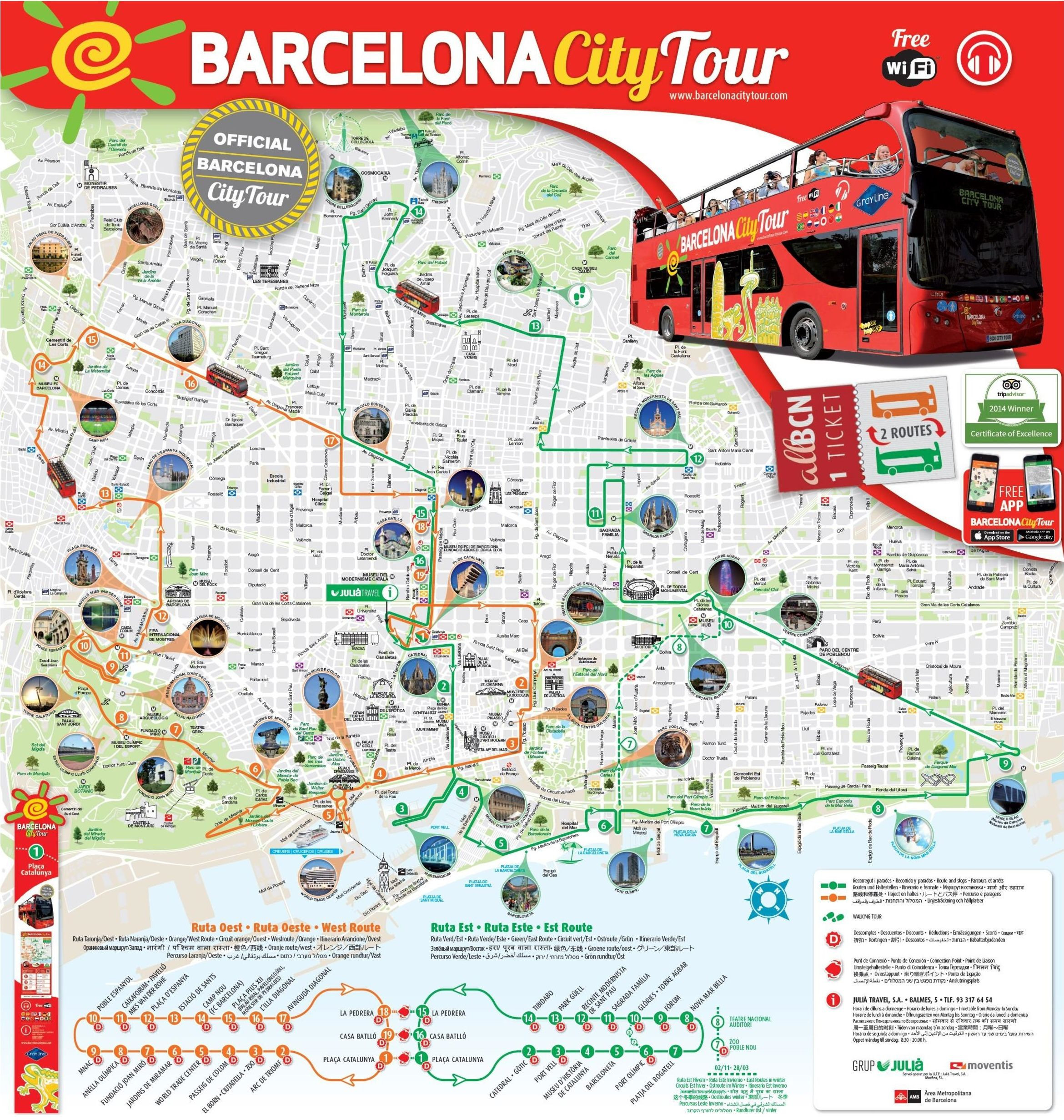 10 New Printable Map Barcelona City Centre