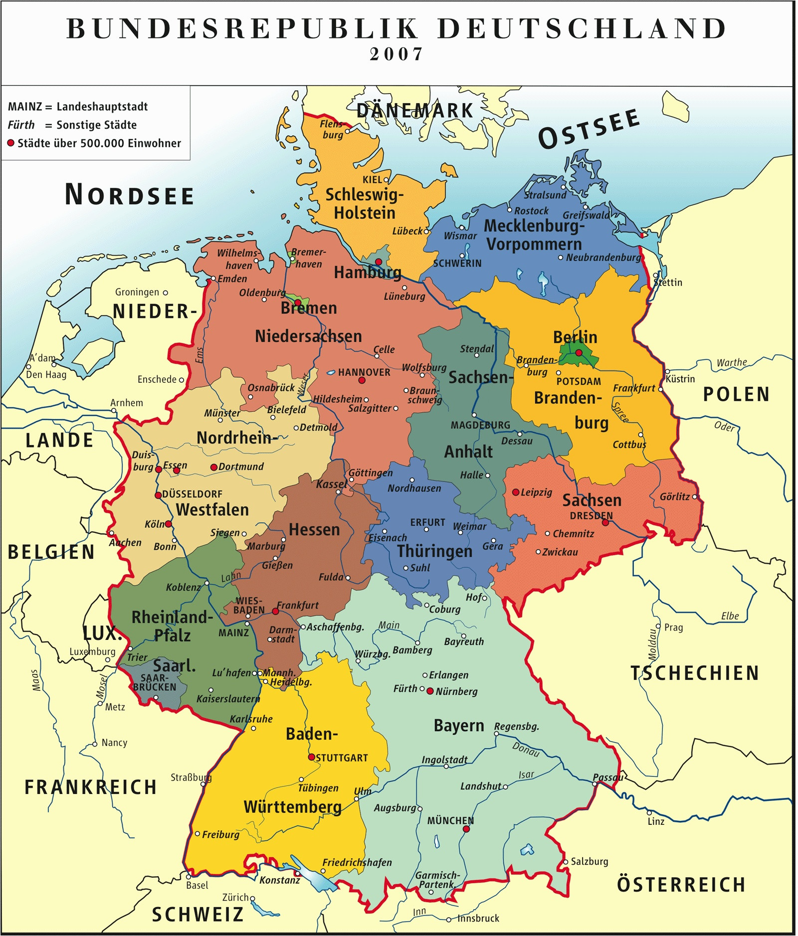 Free Printable Map Europe Best Download Map Od Germany Map