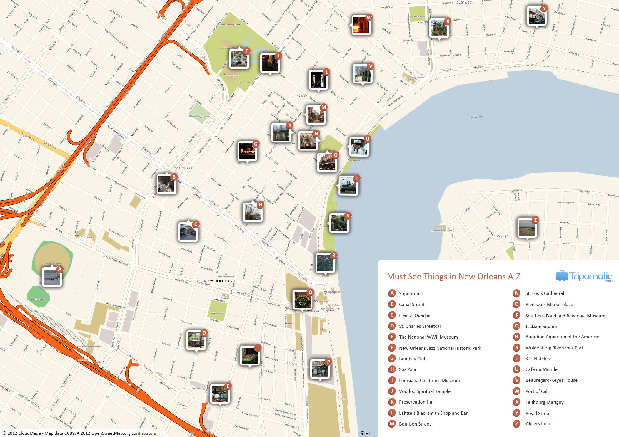 New Orleans Printable Tourist Map Free Tourist Maps ✈