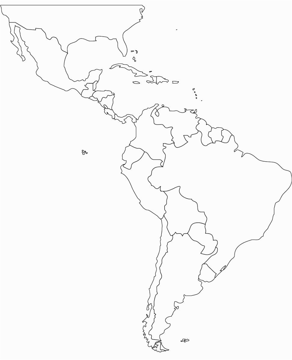 Printable Map Central America Elegant America Map Drawing At Getdrawings South America Map Outline 972