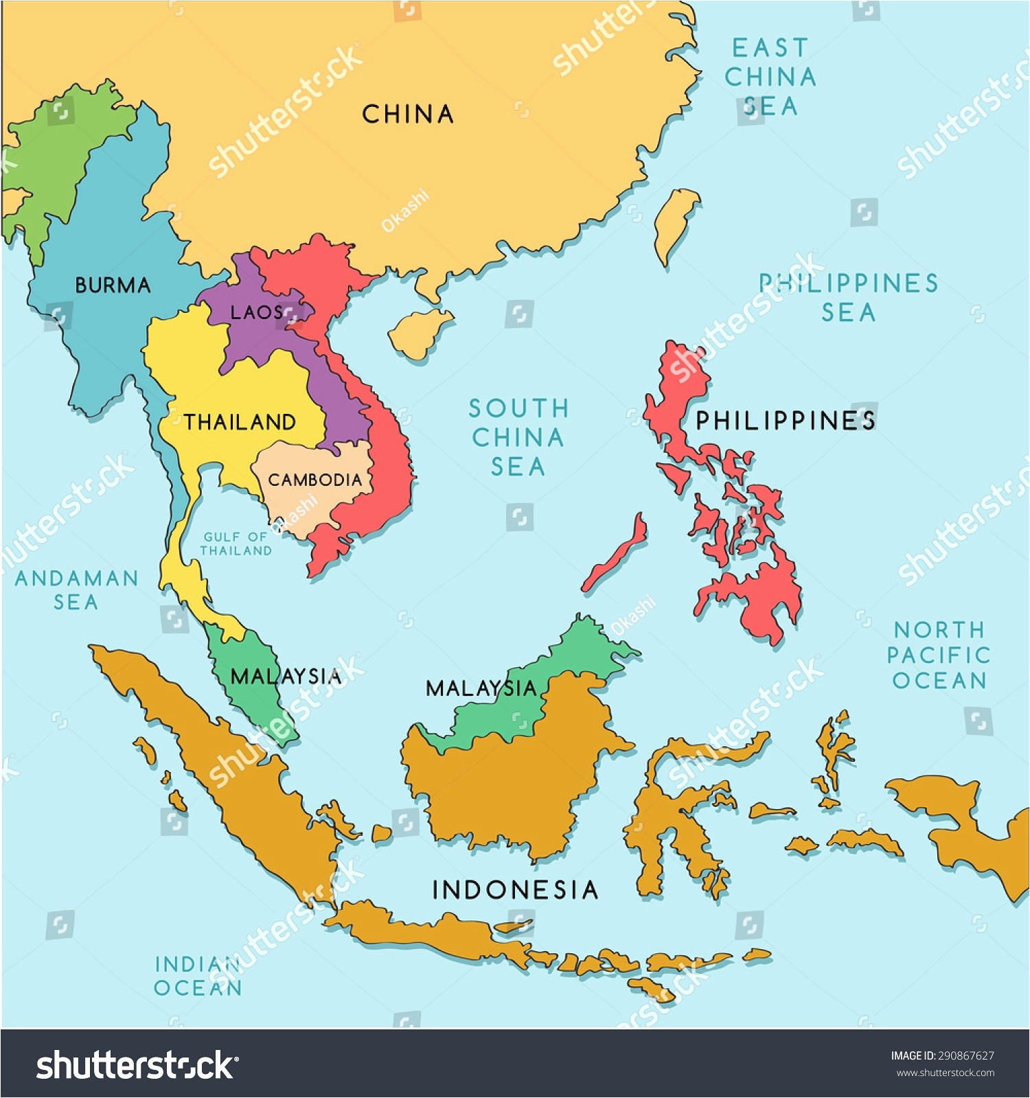 Printable Map south East asia Recent Download East and southeast
