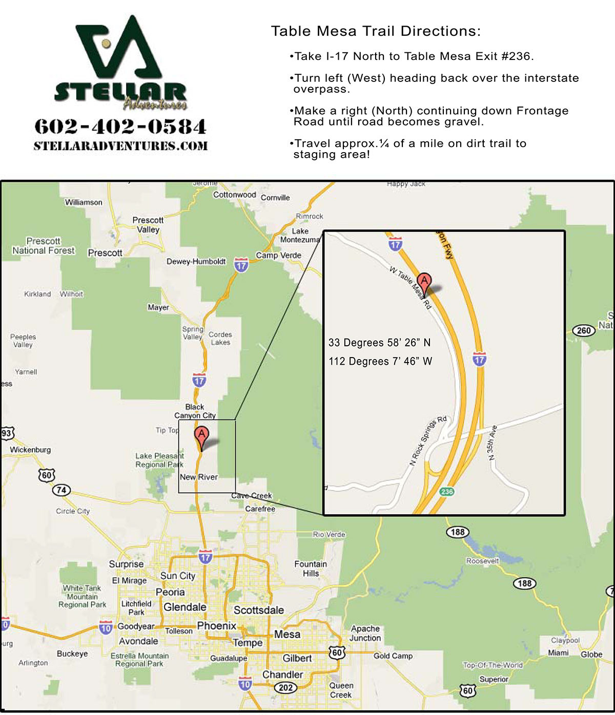 Printable Map Directions Luxury Maps Arizona F Road Adventure tours by Stellar Adventures