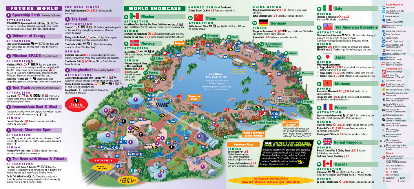 Printable Map Disney Springs Awesome Park Maps 2010 1 4 Throughout Walt Disney World Ellstrom Me