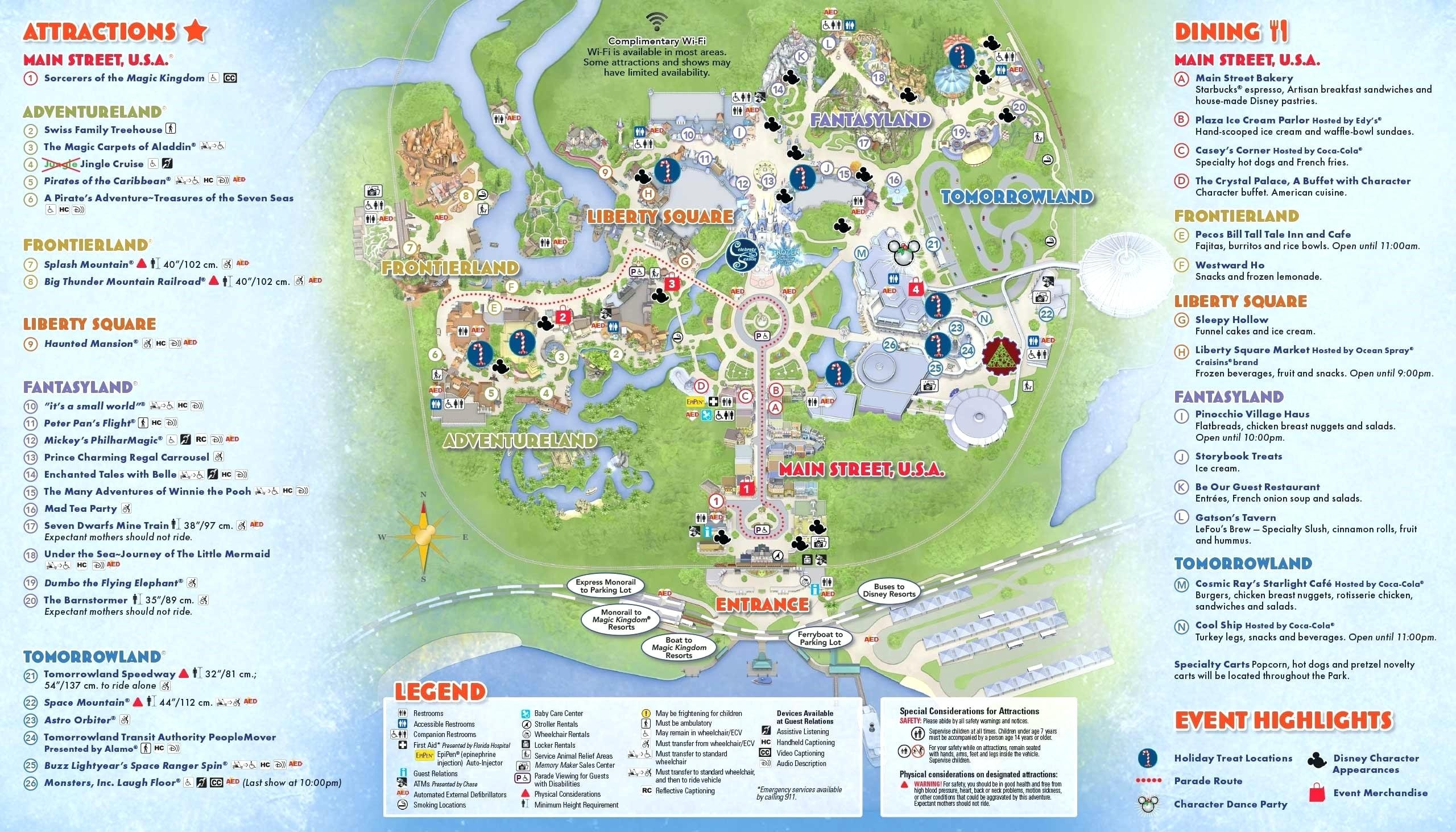 Google Map Disney World Orlando Copy Magic Kingdom Park Walt In Printable