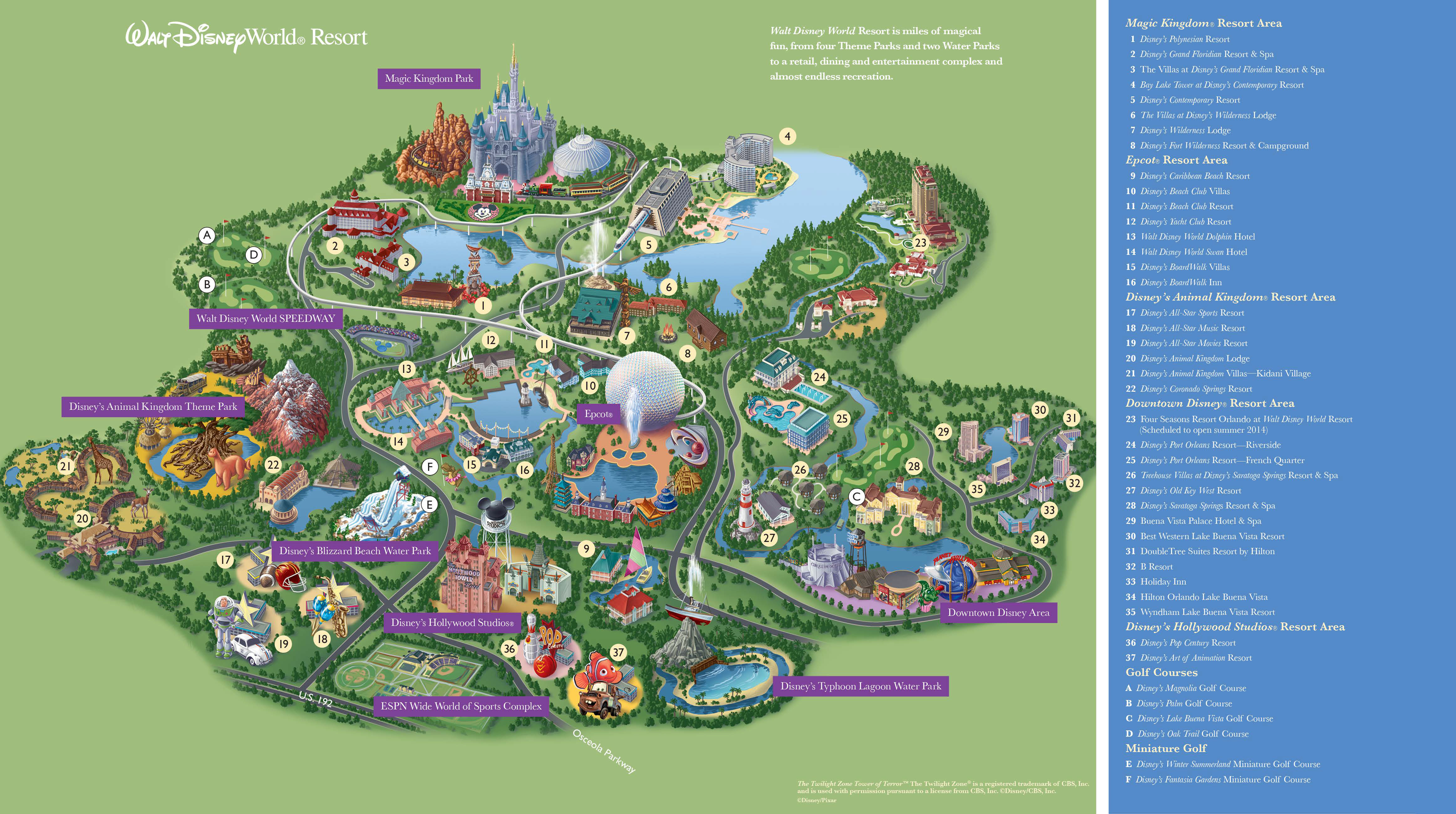Printable Map Disney Springs Fresh Walt Disney World Florida Map Pdf Verkuilenschaaij For Maps At